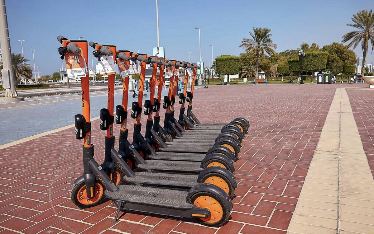 E-scooter project, trial, dubai, UAE, RTA,