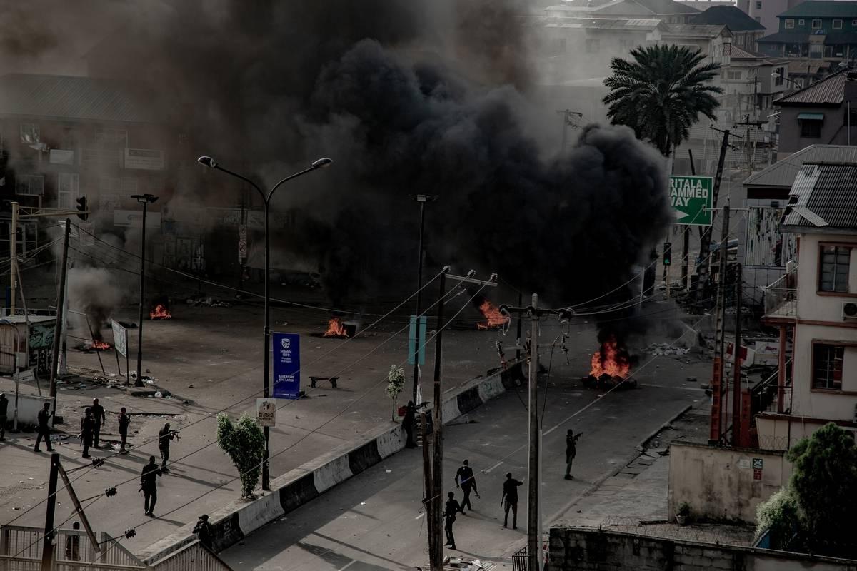 nigeria, lagos, unrest, shooting, protesters