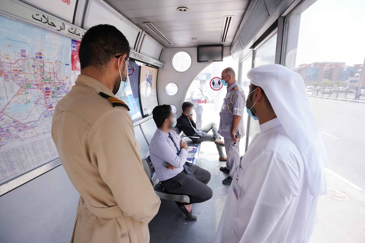 dubai AC bus shelters, RTA, Roads and Transport Authority