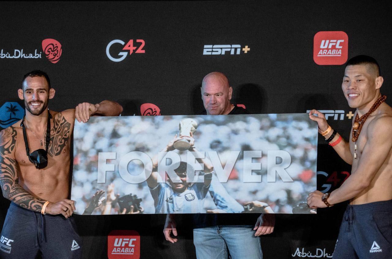 UFC Abu Dhabi kicks off with a tribute to Maradona