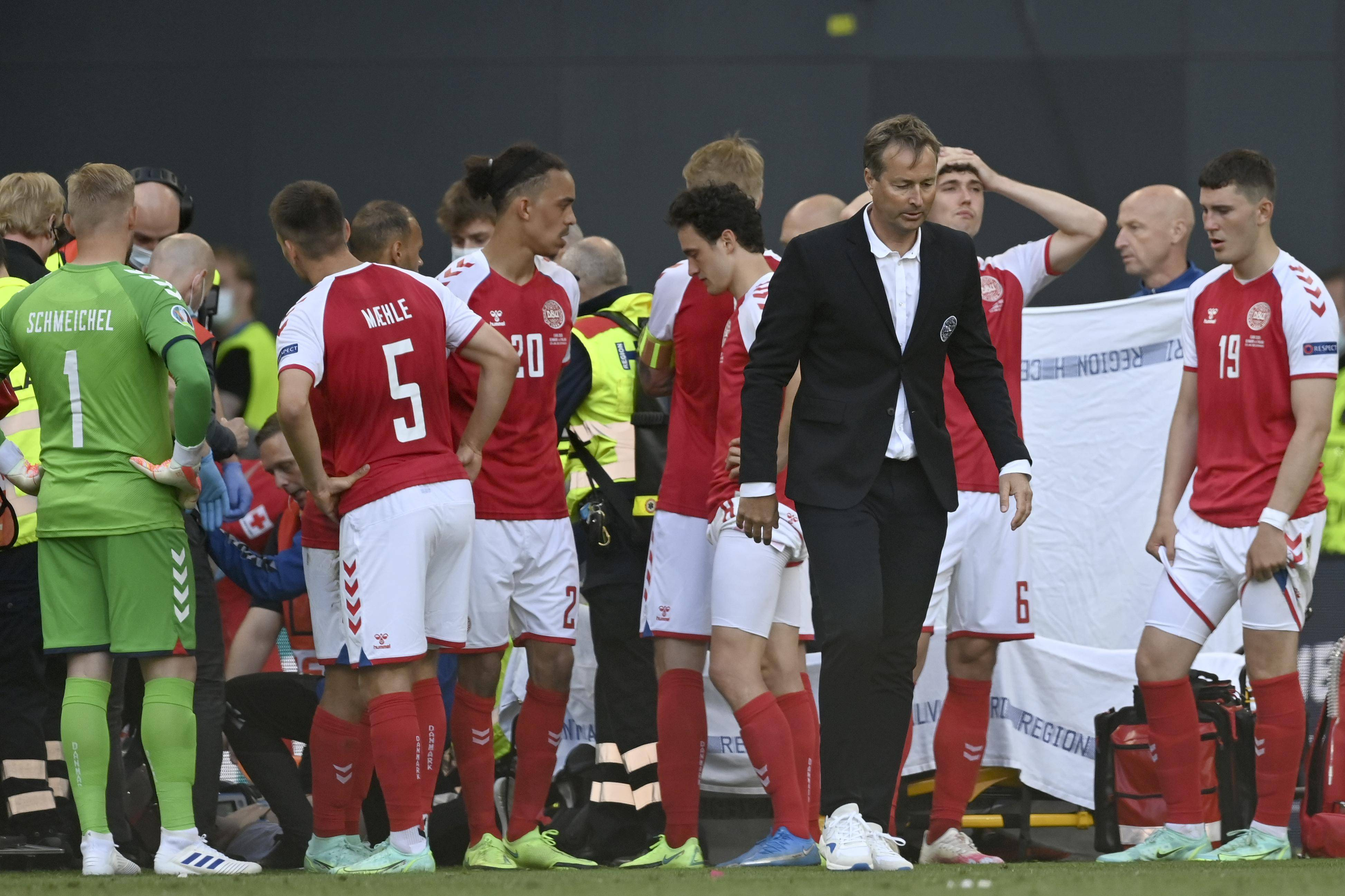 Euro 2020 match suspended as Denmark's Eriksen given CPR