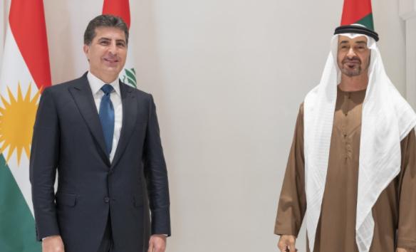 Sheikh Mohamed receives President of Kurdistan Region