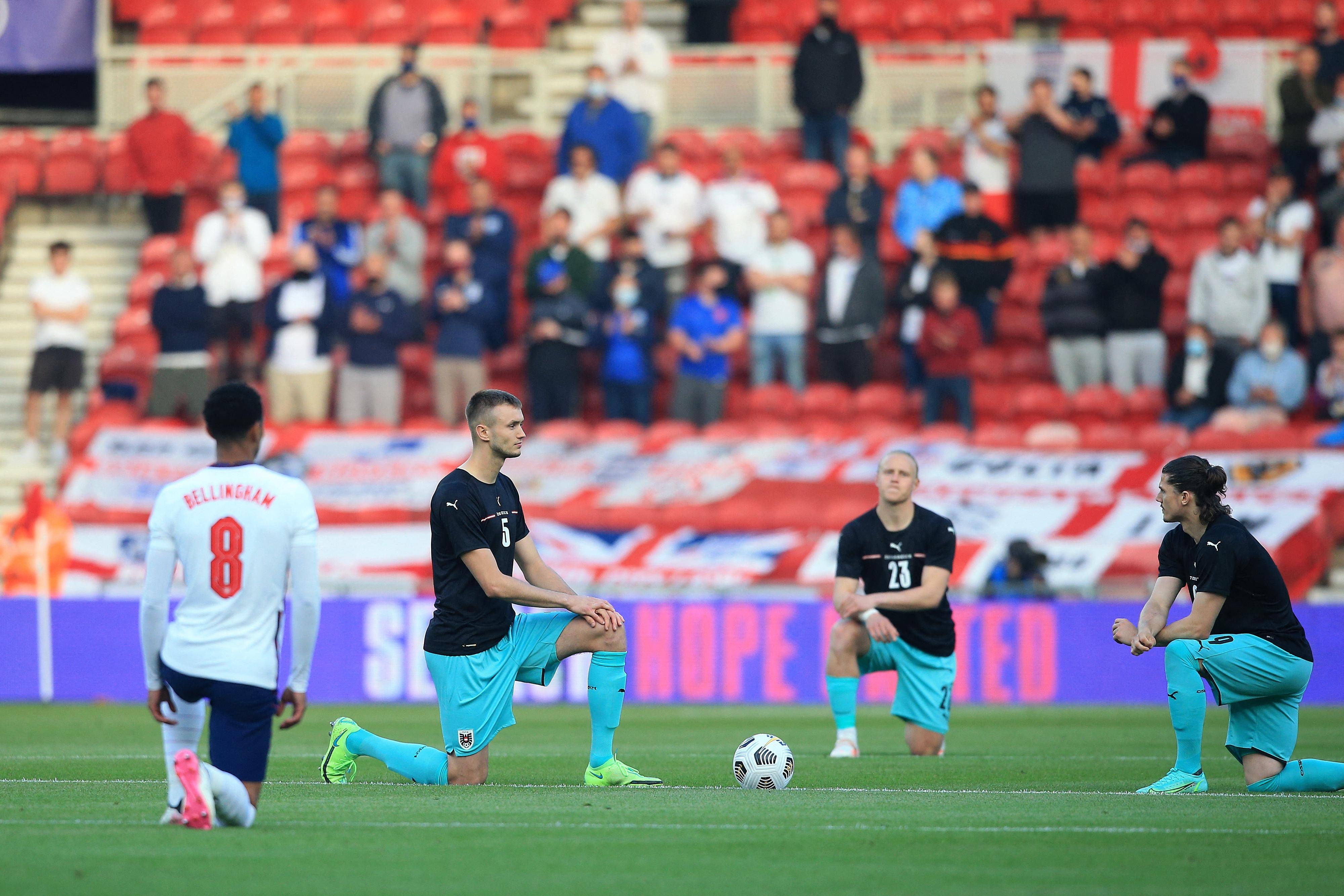 Euro 2020: Row over taking the knee threatens to dent England feel-good factor
