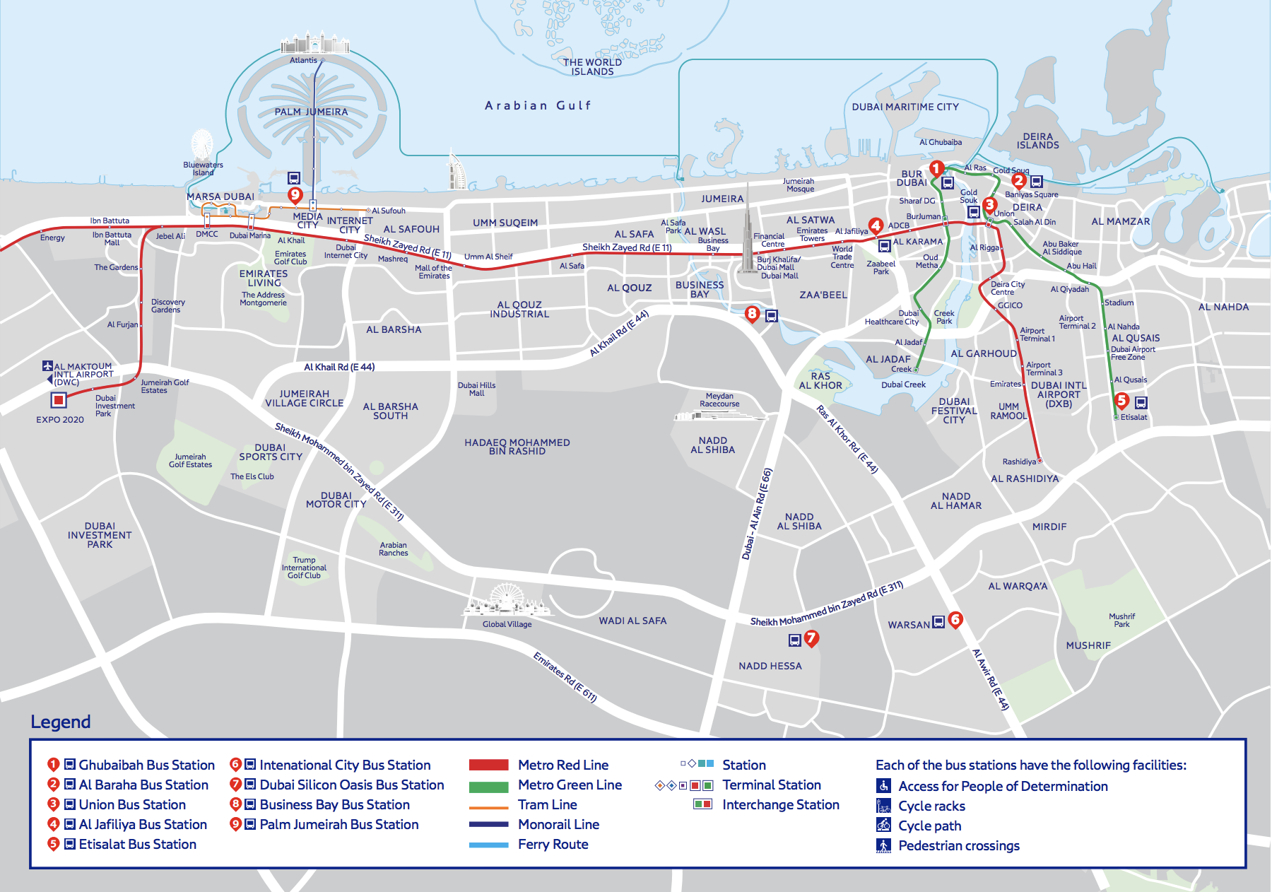 RTA to build cycle paths around Expo 2020 bus stations
