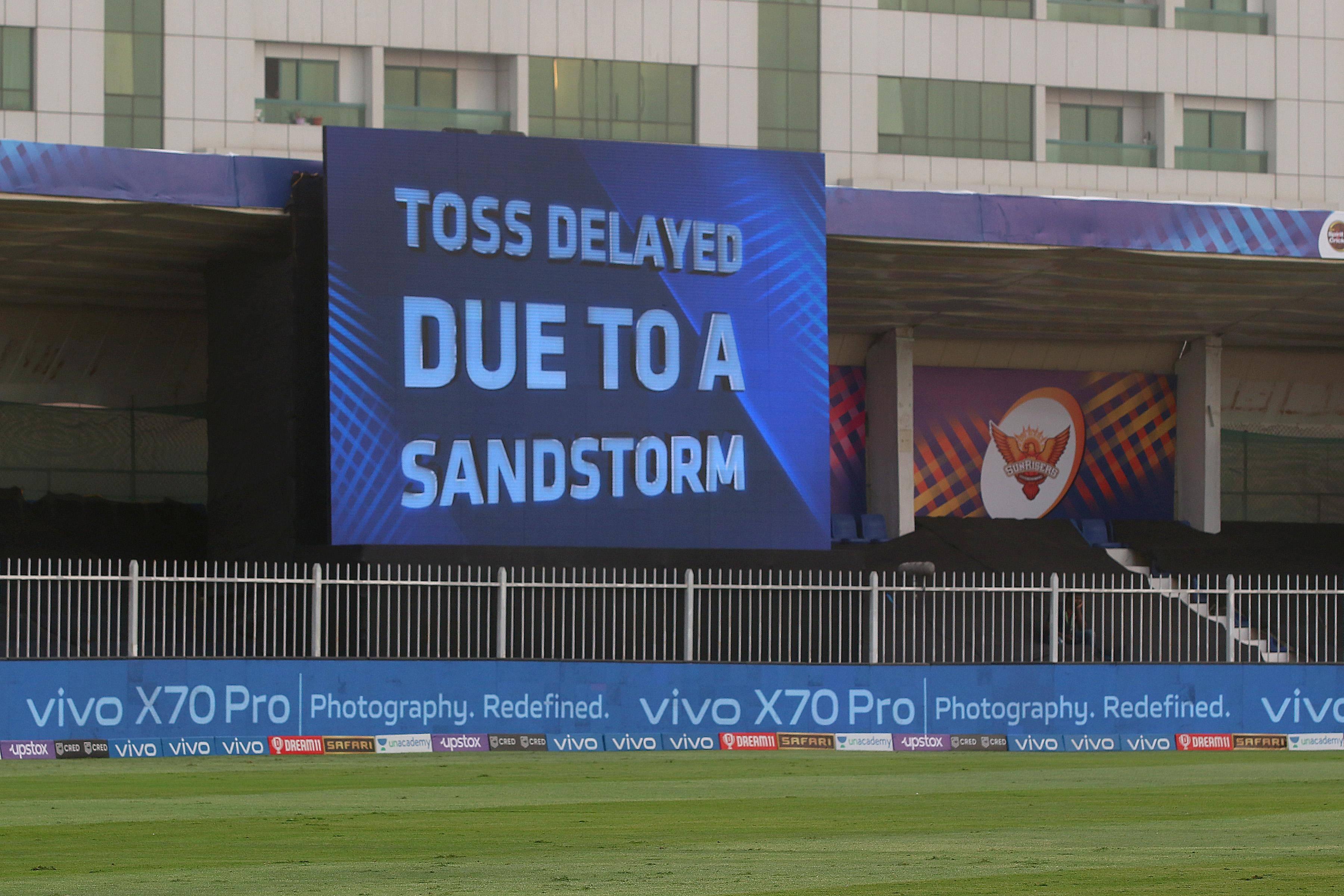 IPL 2021: RCB-CSK game delayed by UAE sandstorm