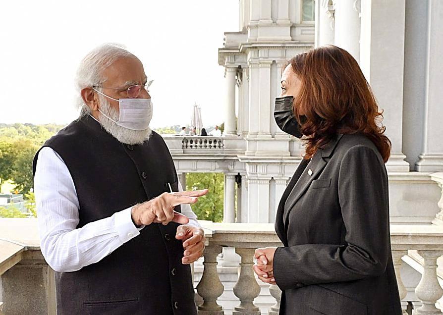 PM Modi presents gifts to Kamala Harris, Quad leaders