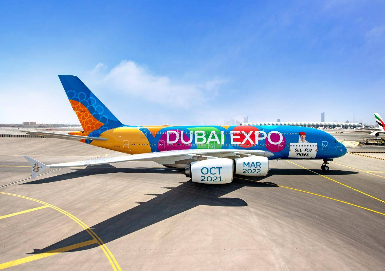 , Emirates plane with Expo livery to fly over Shk Zayed Rd today, The World Live Breaking News Coverage & Updates IN ENGLISH