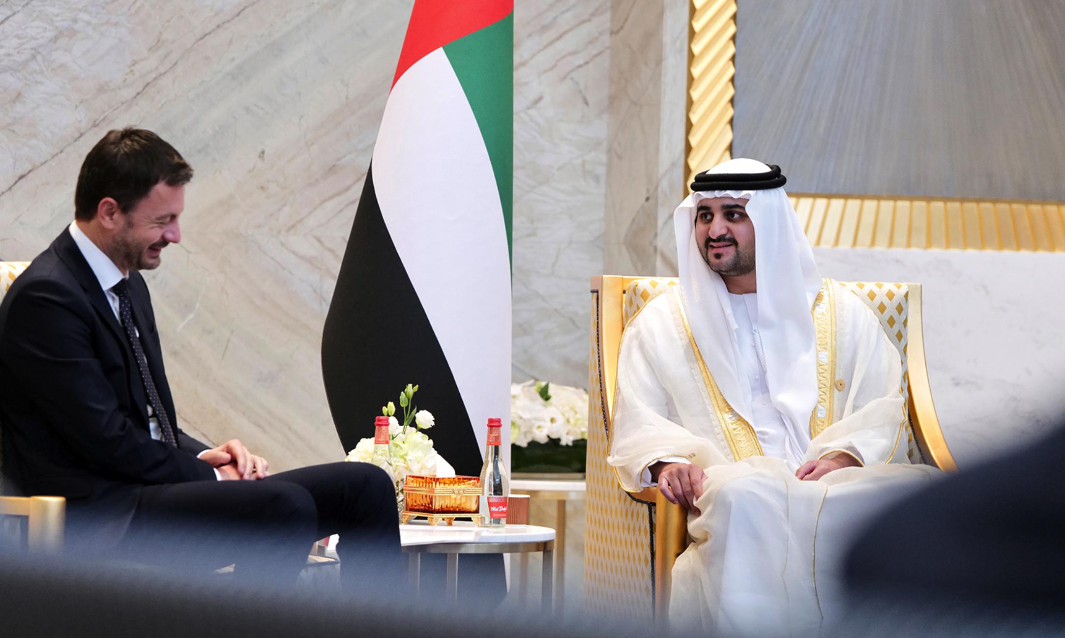 Expo 2020 Dubai: Sheikh Maktoum meets Slovak prime minister